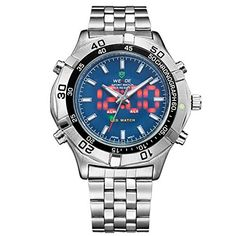 JWW056B Mens Waterproof Luxury Brand Quartz WristWatch LED ** Read more reviews of the product by visiting the link on the image.