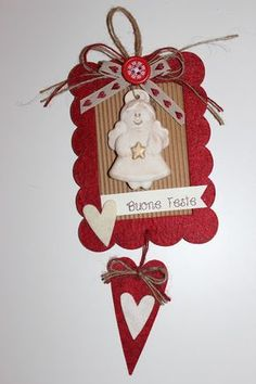 Christmas Gift Wrapping, Christmas Tag, Christmas Decorations, Christmas Ornaments, Fotografia Tutorial, Big Shot, Quilling, Wooden Hearts, Xmas Crafts