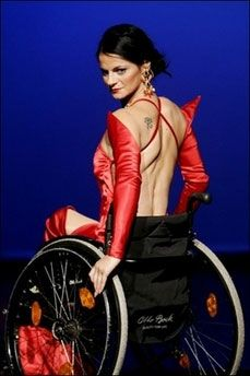 """But there is still a lot to do to fight prejudice because people often do not think that beauty and a disability can go together.""    Read Full Article Here  http://uk.fashionmag.com/news/Wheelchairs-no-bar-to-beauty-say-disabled-models,22913.html#.UU-jQTdCjte"