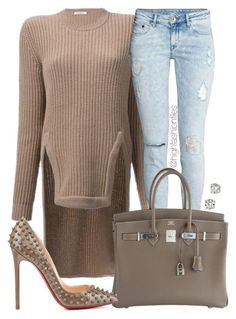 """""""Regular Chic"""" by highfashionfiles ❤ liked on Polyvore featuring Givenchy, H&M, Hermès, Christian Louboutin and Saks Fifth Avenue"""