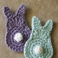 Crocheted spring bunny {picture tutorial}