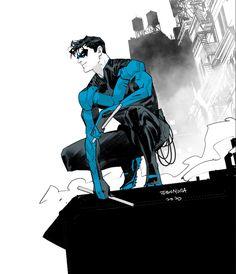 [Artwork] Nightwing, art by Dan Mora.