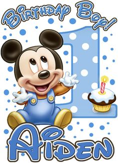 Mickey Mouse Baby 1st Birthday Party t Shirt by ThemesAndDreams1, $4.25