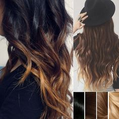 Top 2 Celebrity Sombré Hair Colors 2014 Spring: Dark Brown  Brown Ombre Color Hair Styles & Extensions