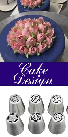 Cake Decorating Frosting, Cake Decorating Designs, Creative Cake Decorating, Cake Decorating Techniques, Cake Decorating Tutorials, Creative Cakes, Cake Designs, Cookie Decorating, Russian Cake Decorating Tips