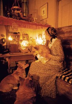 Tasha Tudor... She was an amazing ladylike, Christian woman, who inspired many to return to old fashioned elegance.