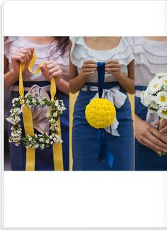 love the second one from the left. instead of bouquets