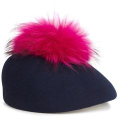 Put the final touch on one of your outfits with a hat from our wide-ranging collection, from the likes of Markus Lupfer, Kenzo and Silver Spoon Attire. Felt Hat, Wool Felt, Fur Pom Pom Hat, Navy Hats, Knitted Beret, Eugenia Kim, Winter Accessories, Hats For Women, Designing Women