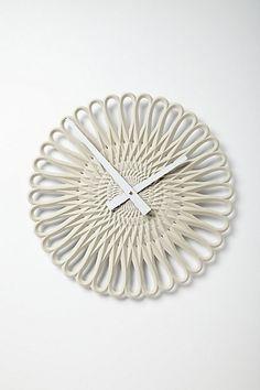 Warpweft Clock #anthropologie