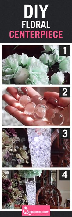 Try this do it yourself at home and save big cash! This beautiful floral centerpiece is quick to do and the materials needed are widely accessible.