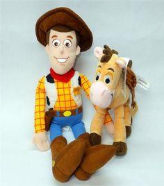 Toy Story Sheriff Woody & Bullseye Horse Cowboy Boots Stuffed Plush Dolls Movie