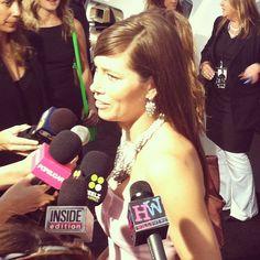 Jessica Biel at the 'Total Recall' premiere