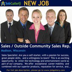 SEEKING A SALES / OUTSIDE COMMUNITY SALES REPRESENTATIVE IN MADISON, WISCONSIN #Job #NewJob #Jobs #Trending #business #SalesJobs #JobOpportunity #MadisonJobs #WisconsinJobs #jobgallery #Sales #Madison #Wisconsin