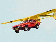 This picture represents a Ford Pinto created in 1973 by Henry Smolinski who died with a pilot during a flight test.
