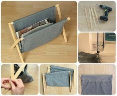 Come costruire un porta riviste in legno e stoffa #diy #tutorial