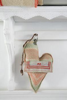 Hart van oude deken