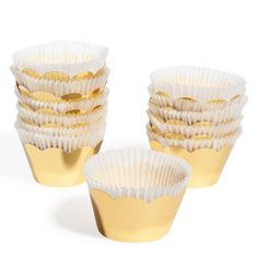Maison du Monde Box of 12 Gold Cupcake Cases