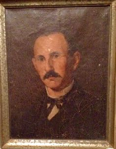 """Antique portrait (artist and subject unknown). 10""""w x 13""""h"""