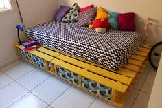 Móvel de quinta: Como fazer uma cama de paletes