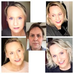 49 years old, HRT, no surgery just makeup and my own hair. Dec 2016 in the centre, Dec 2018 the rest. Male To Female Transition, Mtf Transition, Male To Female Transgender, Transgender People, Transgender Before And After, Mtf Hrt, Male To Female Transformation, Transitioning Hairstyles, Different Hairstyles