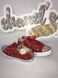 ****PLEASE READ SHIPPING INFORMATION BEFORE ORDERING FOR CURRENT TURN AROUND TIMES**** Bedazzle Bling Converse All Star Chuck Taylor Sneakers. All designs handmade and embellished with a variety of high quality crystals. Great for weddings, proms, homecomings, birthdays, special
