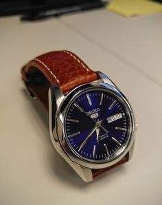Seiko 5 SNKL43 with leather strap