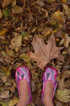 hojas, otoño, floripondias,