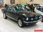 1965 Ford Mustang 289V8 Black Manual M Coupe