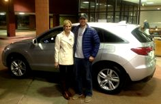 Ben and Shauna couldn't resist our Certified Pre-Owned inventory and chose to drive away with a RDX #acura #courtesyacura #Littleton #Colorado #preownedcars #RDX #happycustomers