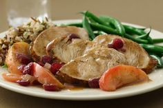 Pan Seared Turkey Medallions with Apple Cranberry Glaze Recipe on Yummly. @yummly #recipe