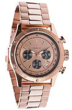 $195 - 20% off on site http://misskldiscount.com/ #watches #flud #rose #gold #karmaloop