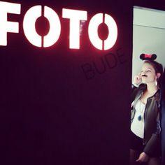 Minnie Mouse im Fotoautomat
