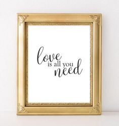 Love Printable Art, Love is all you need printable quote, black white home decor typography wall decor quote printable quote wedding art - Gracie Lou Printables French Home Decor, Gothic Home Decor, Cute Home Decor, Retro Home Decor, Unique Home Decor, Home Decor Styles, Home Decor Accessories, Cheap Home Decor, Wall Decor Quotes