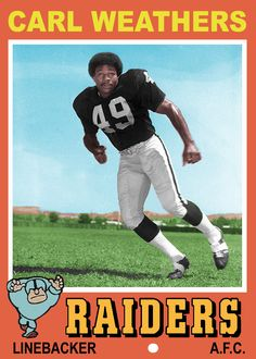 He has a NFL linebacker before he became a famous actor, playing APOLLO CREED in Rocky with Sylvester Stallone was his biggest role. very nice. Raiders Players, Nfl Football Players, Football Memes, School Football, Football Usa, Football Icon, Bears Football, Football Stuff, Sport Football