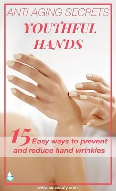 The best remedies for hand wrinkles - Anti-aging hacks #siobeauty #beautytips #skincarediy #antiaging #beautydiy #skincareproducts Anti Aging Tips, Best Anti Aging, Anti Aging Cream, Anti Aging Skin Care, Natural Skin Care, Natural Beauty, Natural Face, Natural Makeup, Anti Aging Mask