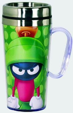 looney tunes acrylic & stainless steel #travel #mug with handle marvin the martian from $12.99