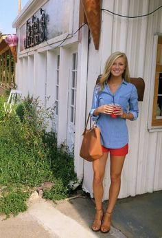 ~~~Easy preppy spring or summer outfit.  Love the color on the shorts!  Stitch fix spring summer 2017 #affiliatelink