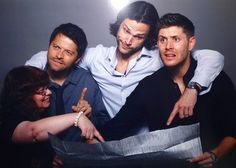64 Hilariously Random Supernatural Convention Photo Ops - I love the cast of this show. They will do anything for their fans.