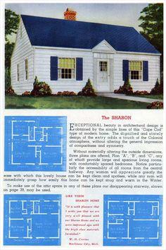 1948 Home Building Plan Service - 1095 | VINTAGE HOUSE PLANS ...