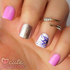 Cute design on nails  #nails #nailsvideos