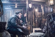 John Bradley-West as Samwell Tarly and Hannah Murray as Gilly – photo Helen Sloan/HBO