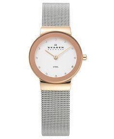 Skagen Watch, Women's Stainless Steel Mesh Bracelet 358SRSC - Watches - Jewelry & Watches - Macy's