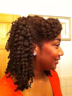 twist-out pinned up