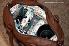 How to Make Your Own Custom Camera Bag. Perfect alternative to those typical plain bulky black bags.