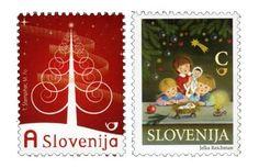 Slovenia Christmas stamps designed by Tjaša Štempihar, Mojca Fo and Jelka Reichman.