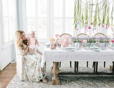 Today on our lifestyle blog, we're excited to share blogger Lindsey Regan Thorne's pastel Easter brunch table! It's everything you imagine when picturing Easter; whimsical flowers, a soft color palette, delicious spring recipes