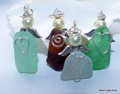 Sea Glass Beach Glass Angels PURCHASE ONE Lake by beachglassshop