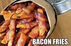 Bacon wrapped sweet potato fries