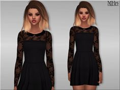 Sims Addictions: Milliana Dress by Margies Sims • Sims 4 Downloads