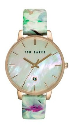 pretty floral printed Ted Baker watch